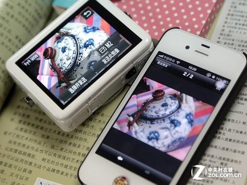 成功将照片传送到手机 然后就可以发微薄YY了!-N数码相机产品特性