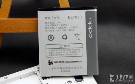 手机电池; 电池; 外观与性能俱佳 oppo r815t详细评测(11)
